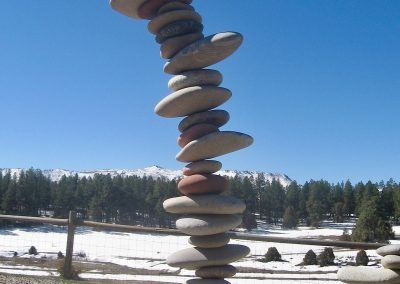 stacked rock art feature