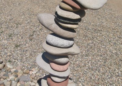 stacked rock art